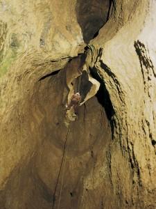 100-Meter-Schacht in der Tiefenhöhle